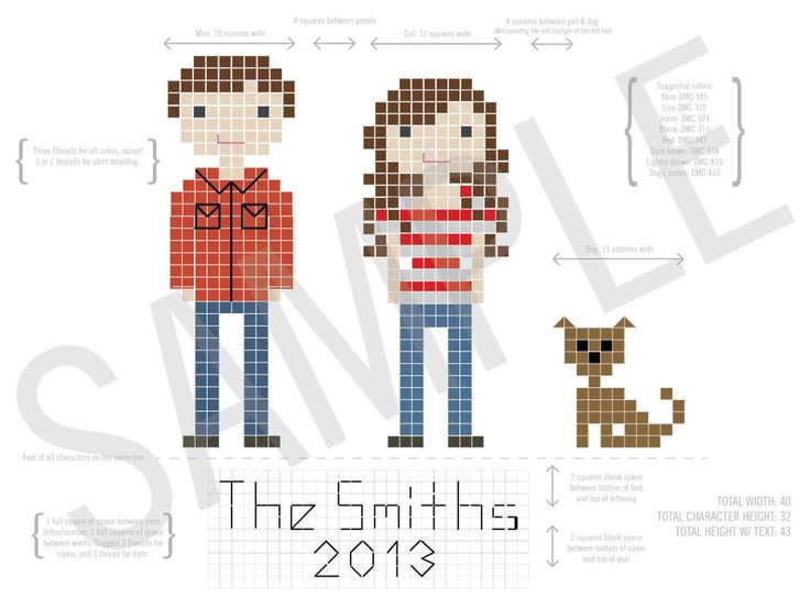 Custom Family Portrait Pattern // this is cool - custom family portrait PDF and an option to get a complete kit with everything you would need! $50-75