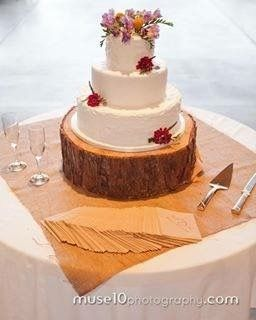 Custom homemade rustic wedding cake
