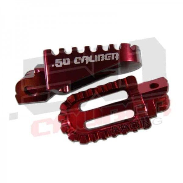 Red Oversized Racing Foot Peg CNC Aluminum Honda Pit Bike Universal  CRF XR 50 #50CaliberRacing
