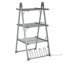 Buy John Lewis 3-Tier Heated Indoor Clothes Airer Online at johnlewis.com
