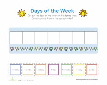 1000+ images about Days of the Week! on Pinterest
