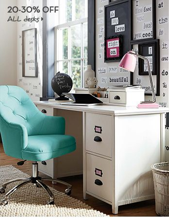 maximize your storage and your style with study furniture from pbteen find desks chairs and more to create a custom setup that works for you - Teen Desks