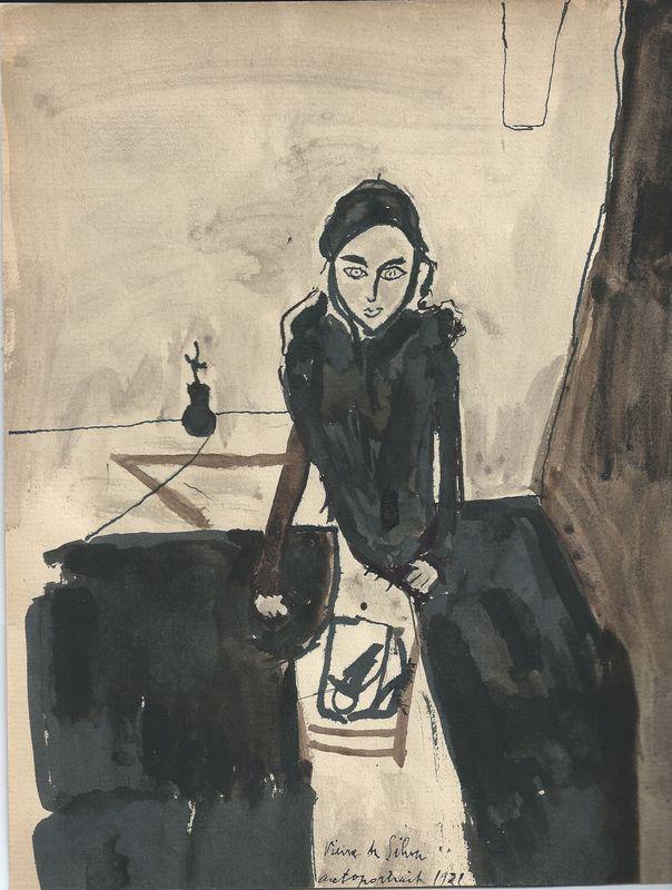 Maria Helena Vieira da Silva (Portuguese, 1908-1992), Self-portrait, 1931.