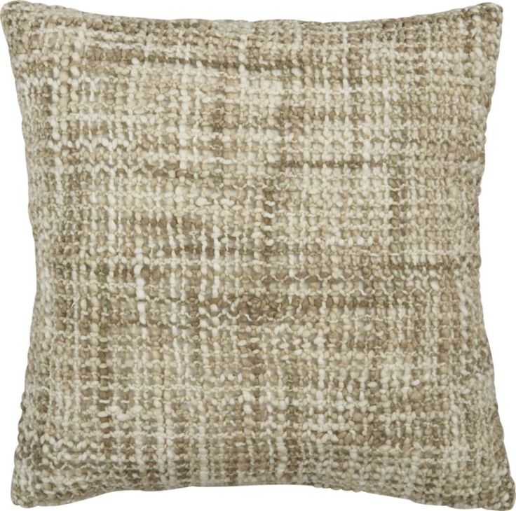 """Open Weave Neutral 18"""" Pillow    Crate and Barrel"""