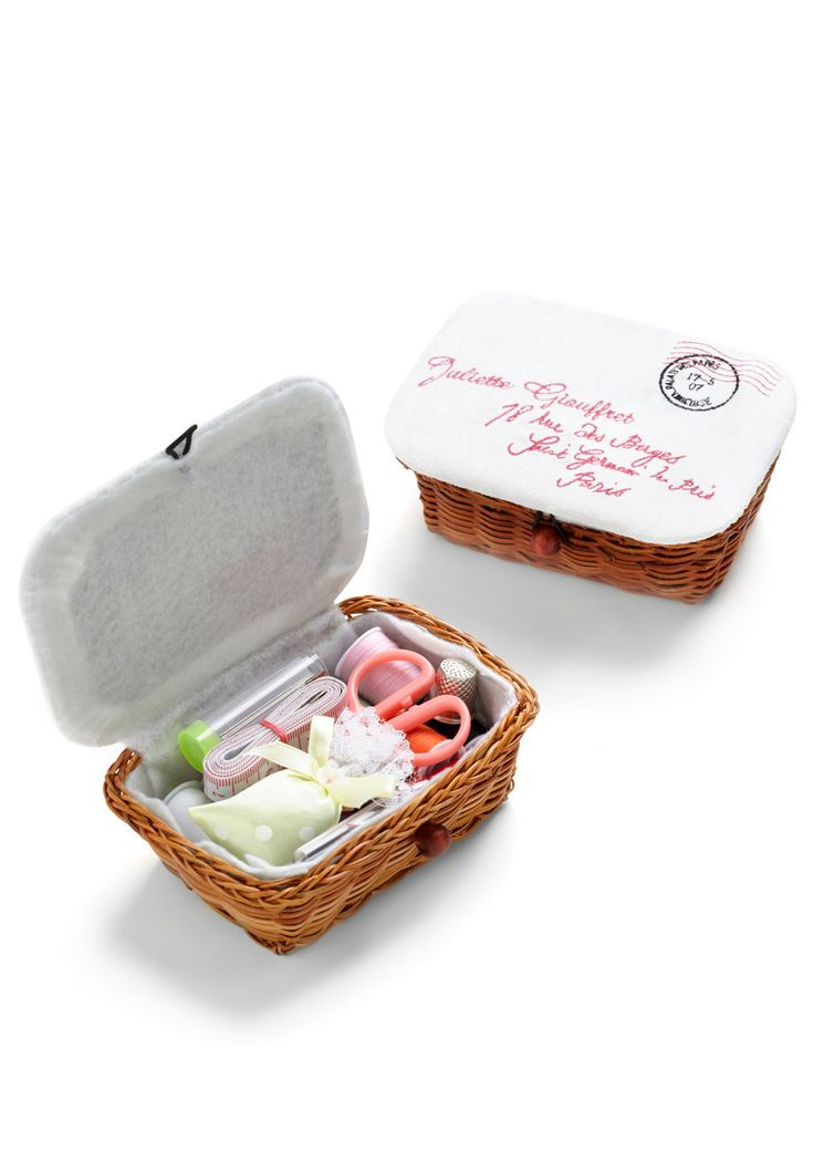 Handmade Sewing Basket : You better be weave it sewing kits
