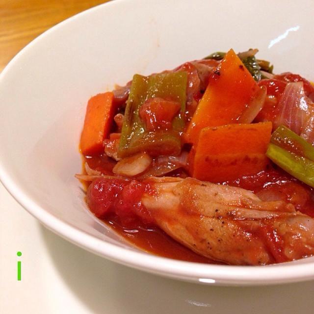 バルサミコ酢とタバスコが、いい仕事してます!ご馳走様でした〜 - 27件のもぐもぐ - 咲きちゃんさんの料理 鶏手羽元のトマトワイン煮込み by izooming