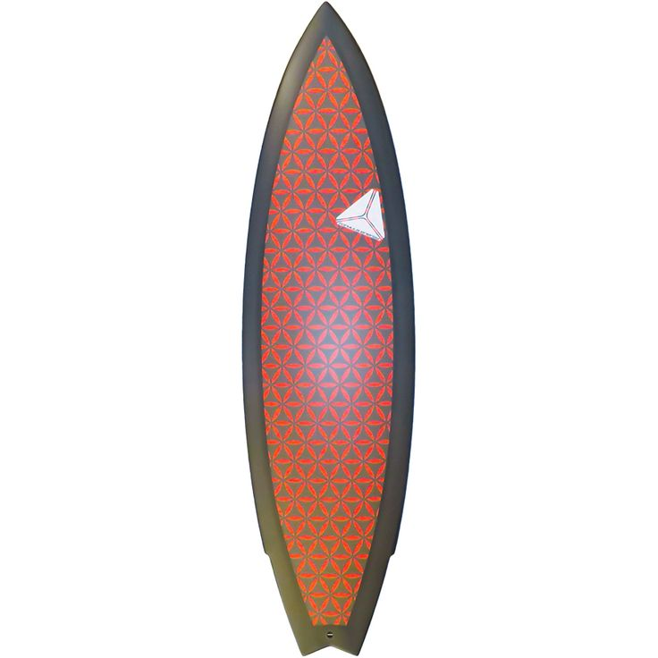USC Mutant model surfboard by Formula Energy Surfboards, with Sacred Geometrical artwork called the Flower Of Life .