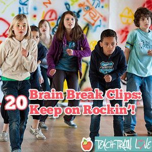 Back by popular demand, yet another list of brain break clips for classroom use! These videos, in addition to the ones featured in my two previous articles 20 Brain Break Clips: Fight the Fidgeting! and 20 Brain Break Clips: Movin' and Groovin'!, gives you access to 60 energizing videos for classroom use. Here are two tips that I use in my classroom to ensure that brain break time doesn't turn into a free for all... :-)