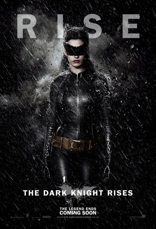 Catwoman character poster from The Dark Knight Rises