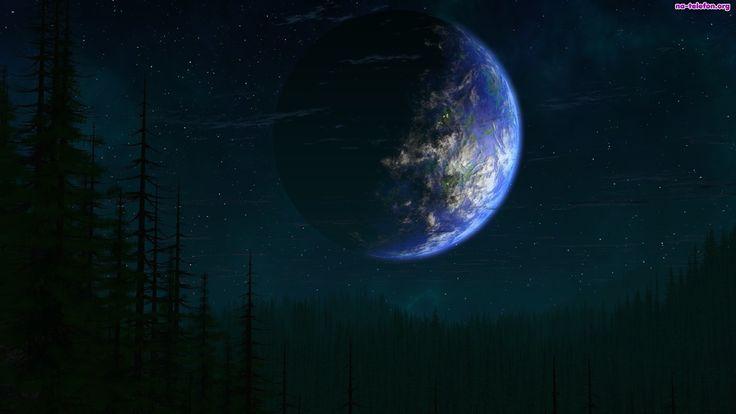 Niebo, Planeta, Gwiazdy, Las