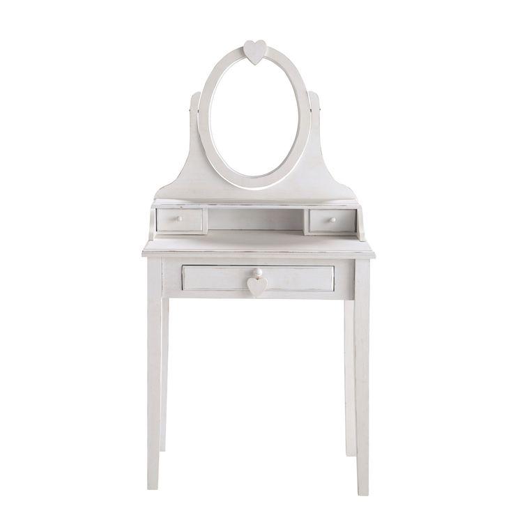 beautiful coiffeuse enfant blanche valentine with meuble coiffeuse maison du monde. Black Bedroom Furniture Sets. Home Design Ideas
