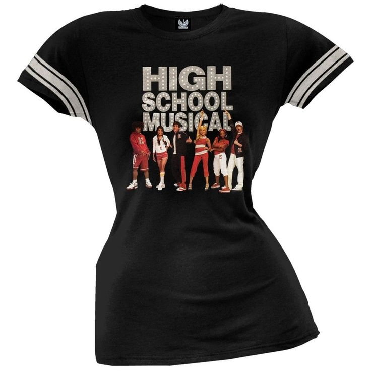 High School Musical - Get In the Game Juniors Black T-Shirt
