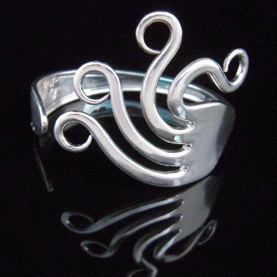 Fork Bracelet  Silverware Jewelry  Original Wavy by MarchelloArt, $29.99