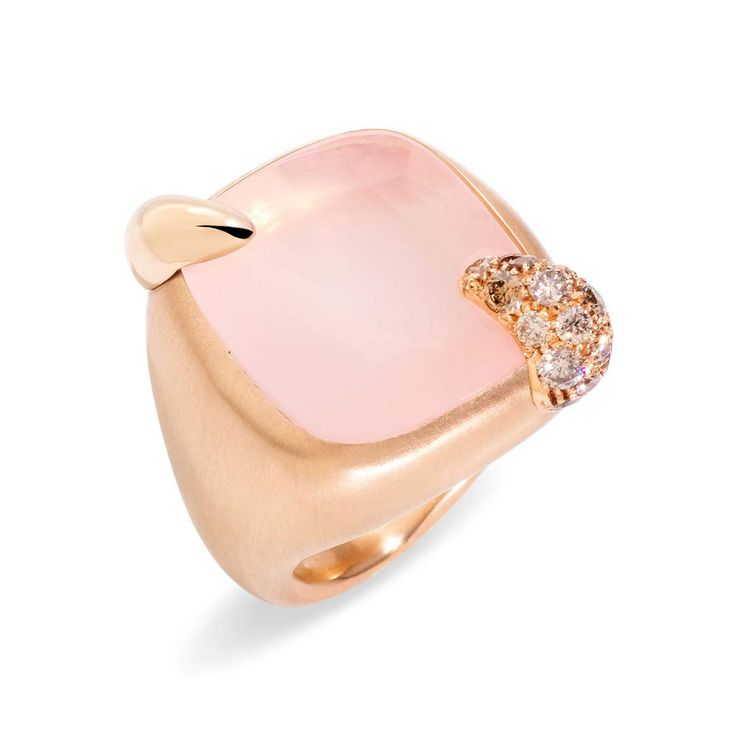 """Pomellato Medium Pink Quartz """"Ritratto"""" Ring"""