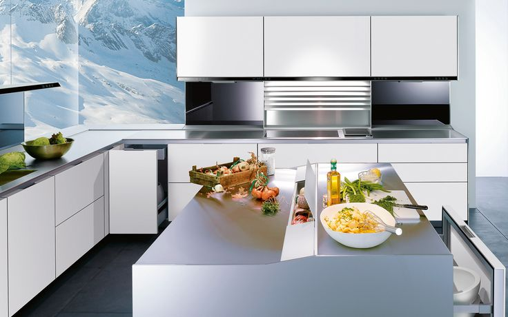 Modern kitchen without handles: S1 | siematic.com