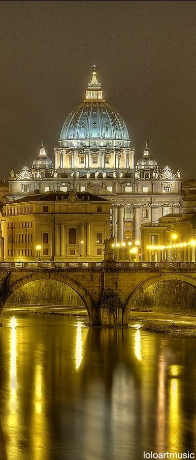 Saint-Peter's Dome (Basilica di San Pietro), Rome, Italy (1506-1626). My visit in 1978 (just a week before the death of Pope Paul VI) was an overwhelming experience. Never seen it since, it 's about time.....