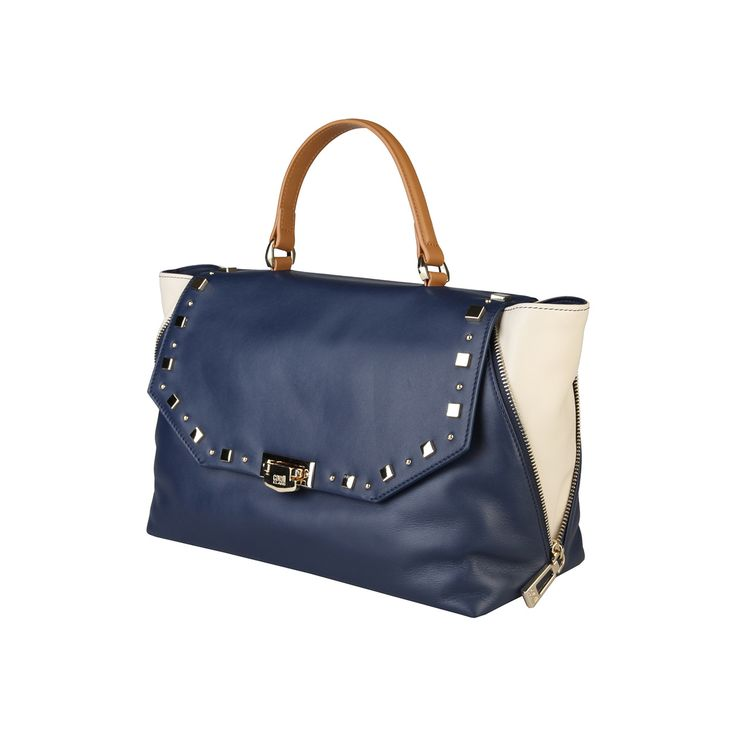 Cavalli Class – C50PWCER0022  Handbag of 100% leather outside and 100% cotton lining has metallic fastening, 1 handle  ,1 removable shoulder strap and 1 internal zipped pocket and internal pockets and a dust bag. It is of size 31*23*13,5 cm.  https://fashiondose24.com