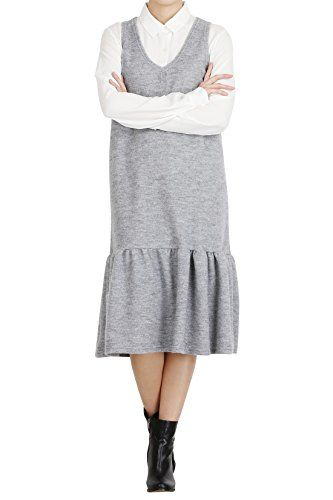 Hipsteration Womens Solid Color Jumper Dress With Flare Grey, M Hipsteration http://www.amazon.com/dp/B01AUY37QY/ref=cm_sw_r_pi_dp_o4eOwb136V0B3