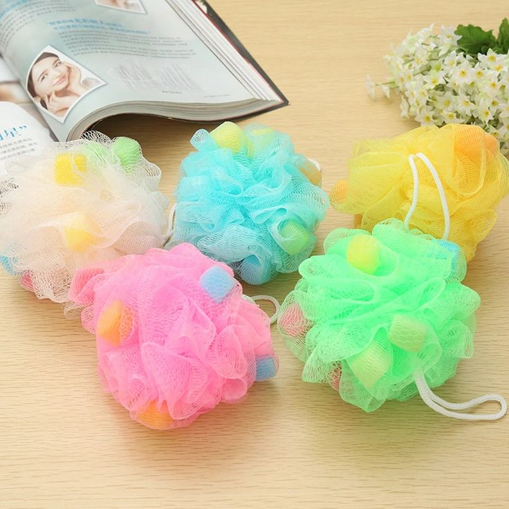 2016 shower bath sponge bath multi color bath sponge can hang bath ball - Multi Bathroom 2016