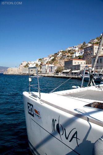 Nova, a Lagoon 620, for crewed charters in Greek islands by Istion Yachting. For more information, please click the link below: http://www.istion.com/catamarans/nova