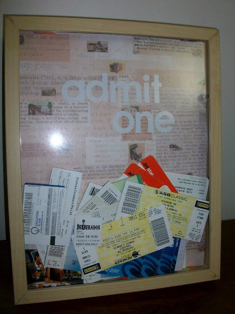 365 DAYS OF PINTEREST CREATIONS: day 321: 'admit one' ticket frame