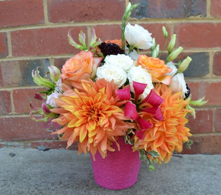 Little baskets for everyone to enjoy bursts of colour.