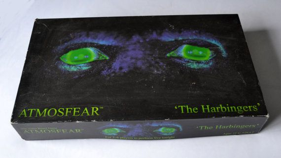 Atmosfear The Harbingers VHS Video Board Game Vintage 1995 Retro Fantasy Game