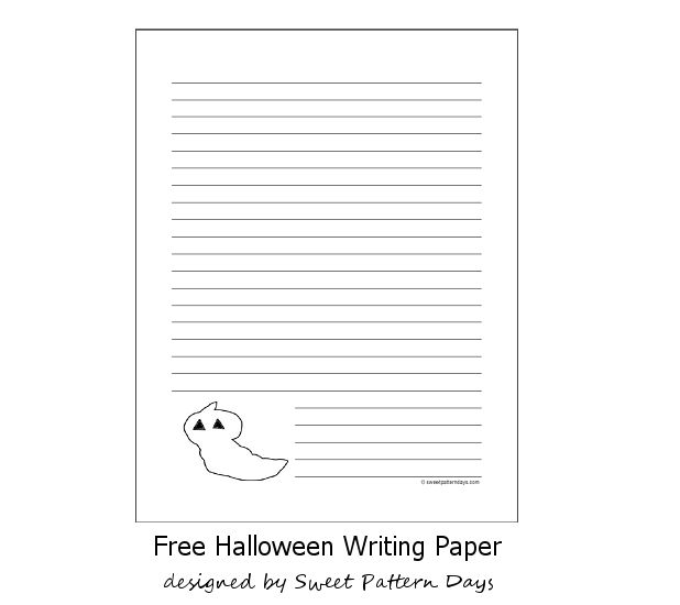 37 best Halloween Printables images on Pinterest Free printable - sample lined paper