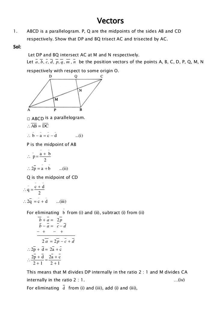 Class 12 Maths - Vectors by Ednexa  http://www.ednexa.com/hsc-blog/hsc-mathematics-preparation-vectors/