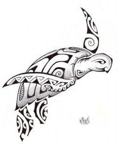 Modèle Tatouage Tortue Maori Polynésien 2012
