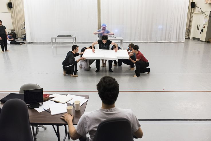 Guillaume Côté looks on as Artists of the Ballet rehearse for Le Petit Prince. Photo by Aaron Vincent Elkaim.
