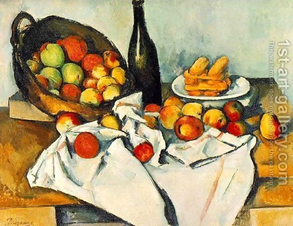 Still Life with Basket of Apples by Paul Cezanne