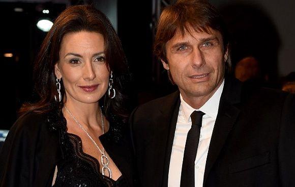 Antonio Conte with his wife Elisabetta