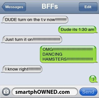I so want to see dancing hamsters