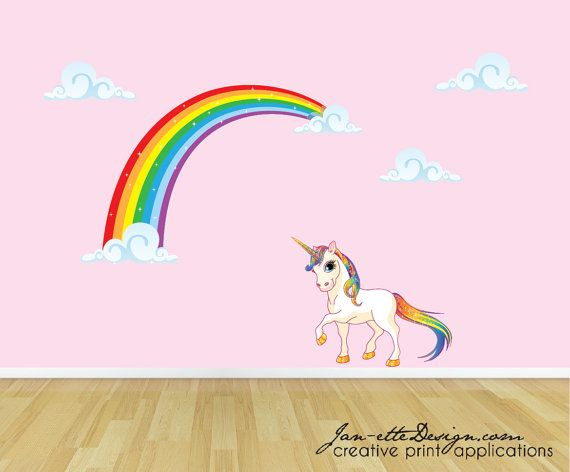 Wall Art Stickers Rainbow : Best unicorn wall decal ideas on
