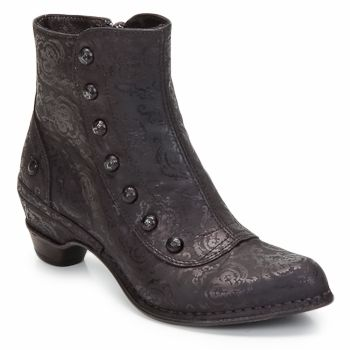These have cool simple victorian look- liza....Ankle boots Neosens MAZUELA NANA Black / Effect / Lace - Shoes Women