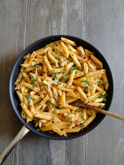Penne with artichokes - ready in less than 30 minutes