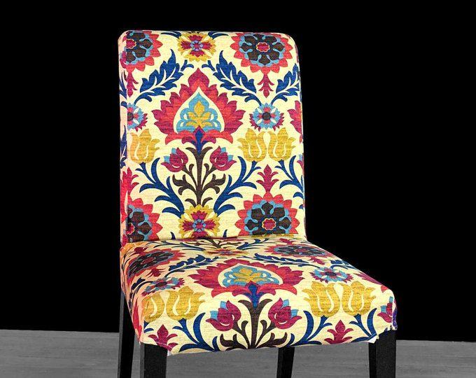 Colorful Flower IKEA HENRIKSDAL Chair Cover, Santa Maria Gem
