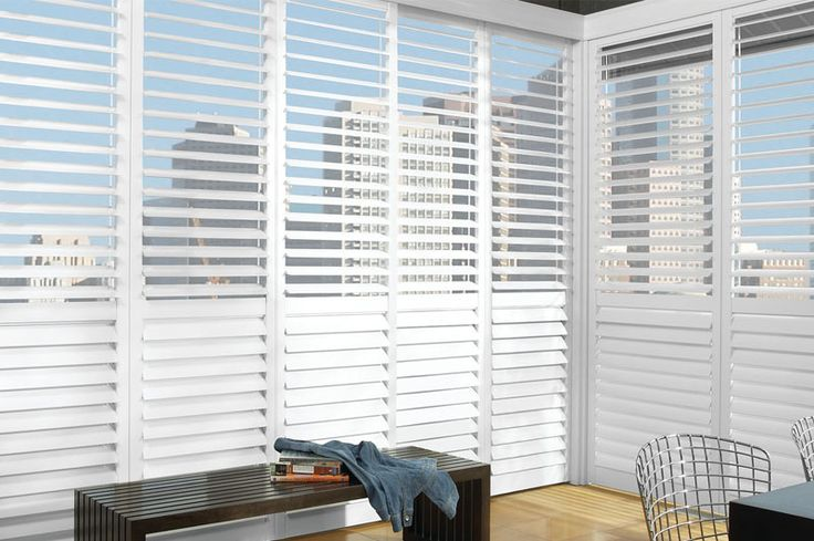 Plantation shutters look like giant, wood blinds but there are big differences. Blinds are often made of vinyl or aluminum, are narrow, and the slats tilt based on a pully and gear mechanism. Unlik…