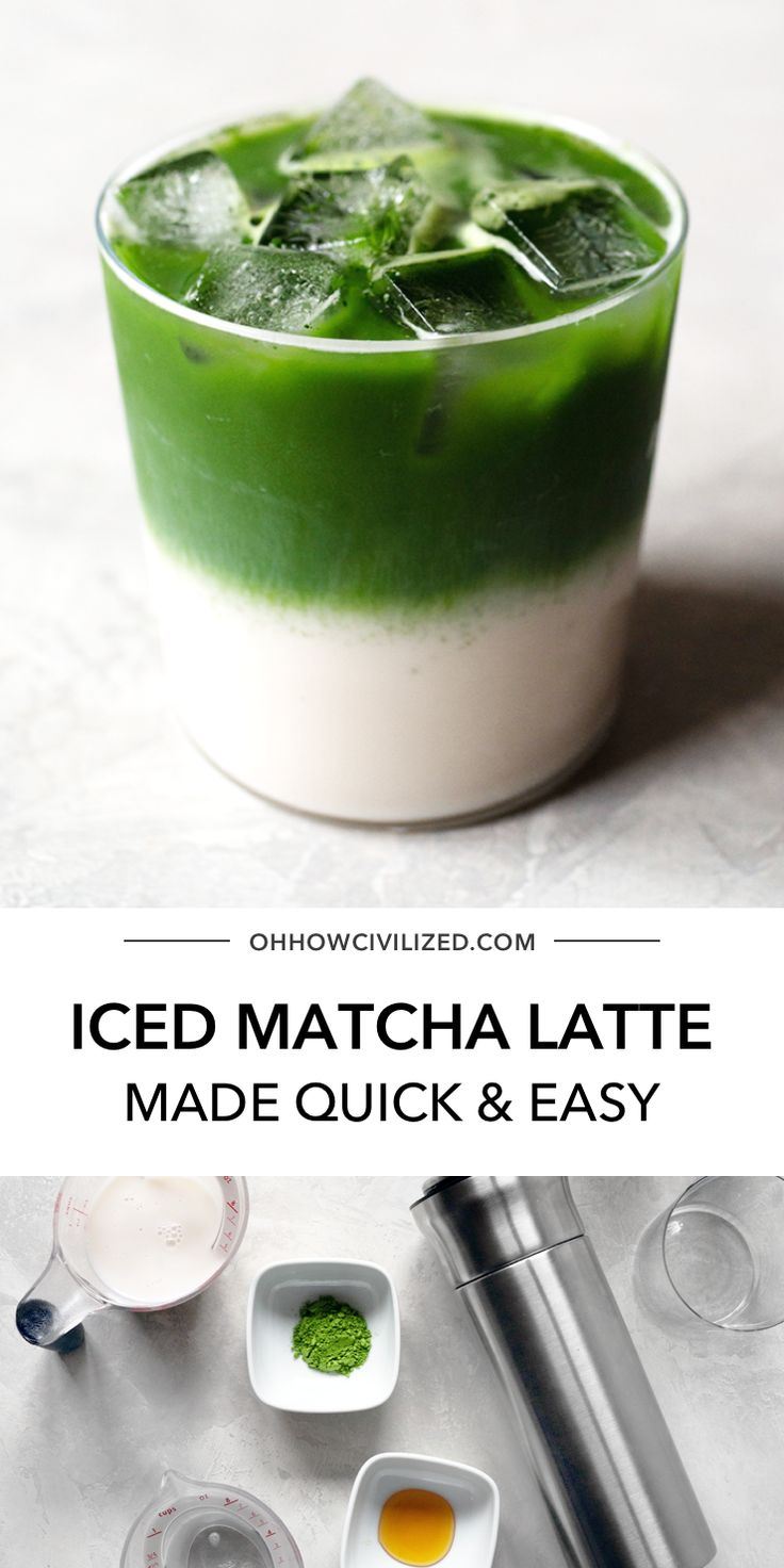 Easy Iced Matcha Latte in 2020 Iced matcha latte, Iced