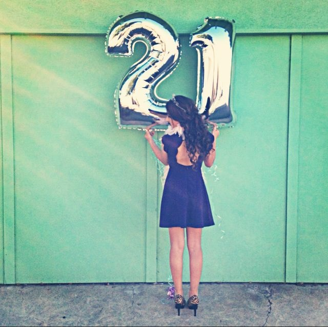 Cute Idea For When You Turn 21! Get Dressed Up In Some