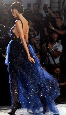 Gorgeous midnight blue dress.