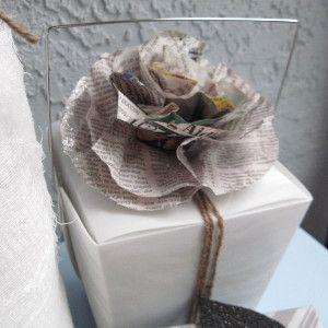 Gift Wrap Newspaper Flower