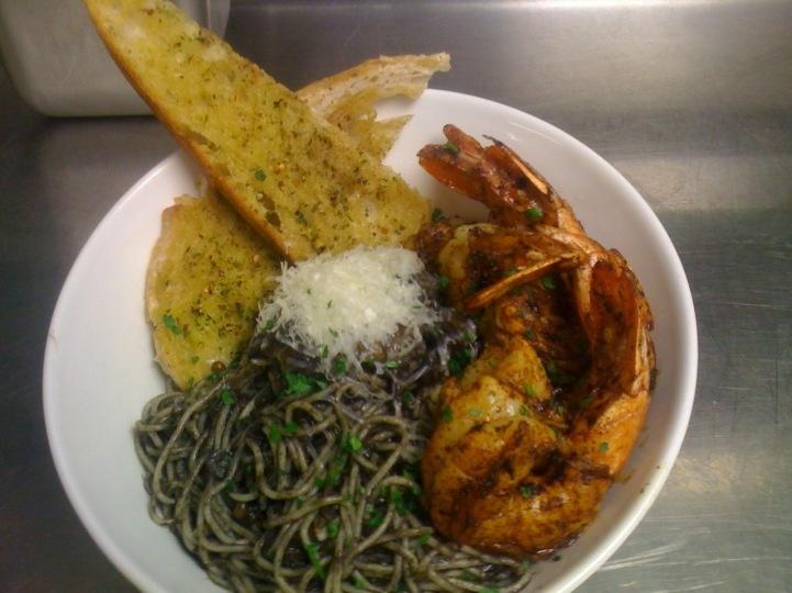 ancho shrimp with huitlacoche pasta | Huitlacoche (Mexican truffles ...