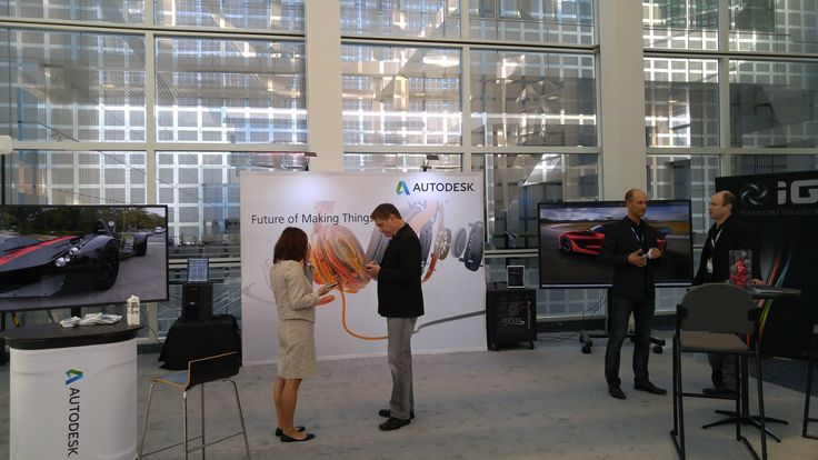 """Los Angeles Auto Show 2015 kicked with the Designer Challenge and Media Days. IGI supported partner Autodesk with multiple 84"""" 4K panels to highlight the latest in design tools for the automotive industry."""
