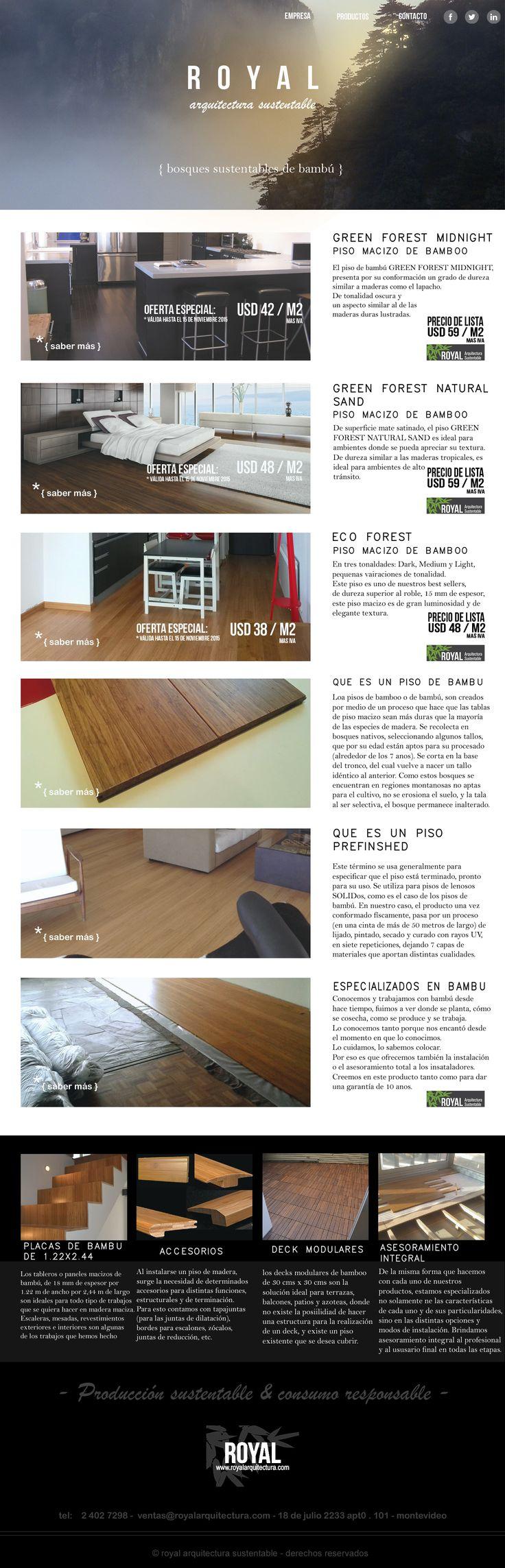 Bamboo Flooring / Pisos de Bambú. Newsletter   Royal arquitectura sustentable.