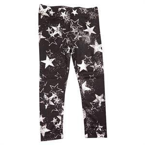 Sorte leggings med sølvfarvet stjerneprint fra Kids-Up - Vibe