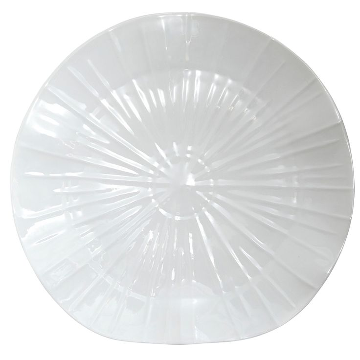 Jacques Pergay Lotus Porcelain White Charger Plate