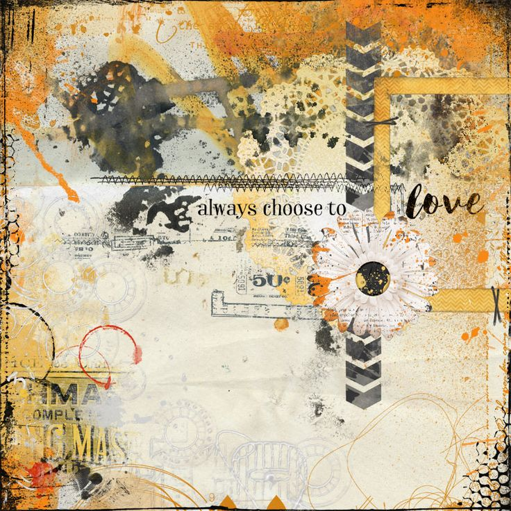 AJ 2015 Choose to love. Kits Time to shine and speak it vol 13 by Angie Young Designs at Scrapbookgraphics, Mishmash edgystash and papillon place by Captivated Visions, Mustard stain overlay by Sissy Sparrows at The Lilypad.