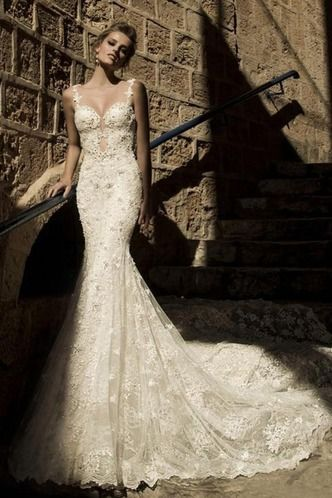 Vestiti da sposa Sensuali Sirena all'aperto collo Sweetheart Schiena Nuda – www.ysun.it